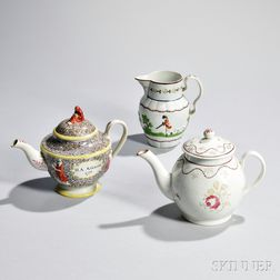 Three Staffordshire Pearlware Items