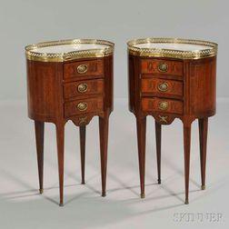 Pair of Louis XVI-style Marble-top Guéridons