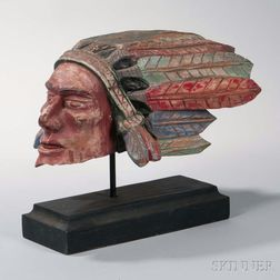 Indian Chief's Head Sculpture