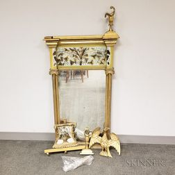 Federal Carved and Gilt Eglomise Mirror
