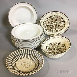 Nineteen Wedgwood Creamware Items