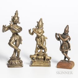Three Votive Figures of Krishna
