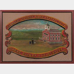 "Painted ""Sabbath School"" Banner"