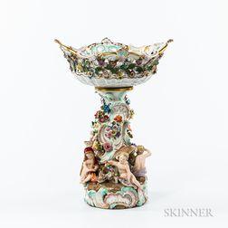 Meissen Porcelain Figural Compote