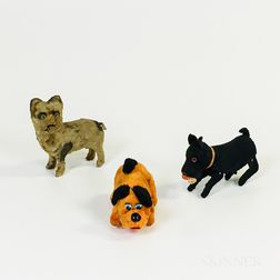 Three Early Plush Wind-up Toys