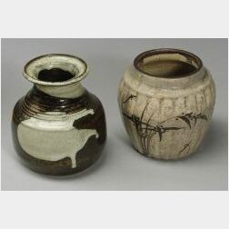 Two Stoneware Jars