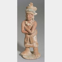 Pre-Columbian Pottery Warrior Figure
