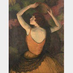 Louis Kronberg (American, 1872-1965)  The Tambourine