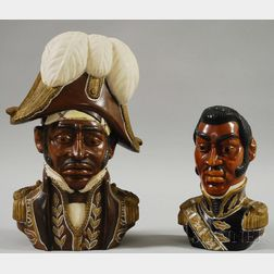 Ulysse Dabouze (Haitian, 19th Century)      Two Carvings: General Jean Dessalines