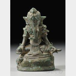 Bronze Image of Ganesha