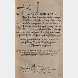 Danfrie, Philippe (1532-1606) Declaration de L'Usage du Graphometre