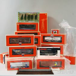 Set of Twenty-three Lionel O Gauge Model Trains and Accessories