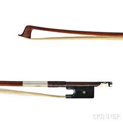 German Silver-mounted Violin Bow, Possibly Bausch School