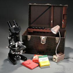 Compound Binocular Microscope by Leitz