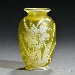 Cameo Glass Vase, Possibly Thomas Webb & Sons