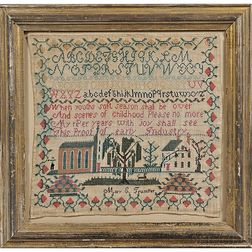 "Needlework Sampler ""Mary E Trumper,"""