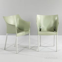 "Two Philippe Starck for Kartell ""Dr. No"" Stackable Chairs"