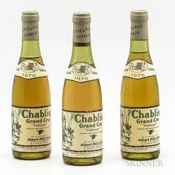 Albert Pic Chablis Valmur 1978, 3 demi bottles
