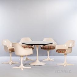 Burke Tulip-style Dining Table and Five Chairs