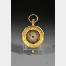 Small J.E. Caldwell Empire-style Watch-form Wall Clock