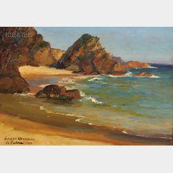 Lionel Walden (American, 1861-1933)      Rocky Shore