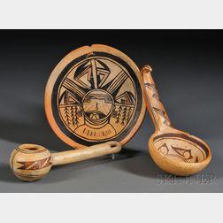 Three Hopi Pottery Items