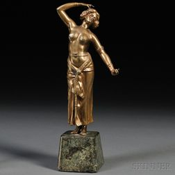 Continental School, Early 20th Century       Bronze Figure of an Exotic Dancer