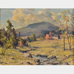 Charles E. Buckler (American, 1869-1953)    Early Autumn Landscape