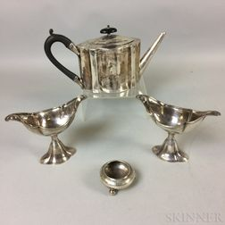 Four English Sterling Silver Items