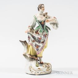 Meissen Porcelain Figure of a Maiden