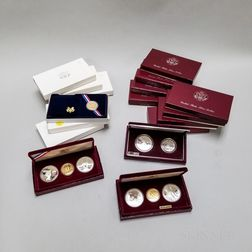 Group of 1983 and 1984 Los Angeles Olympic Commemorative Coins