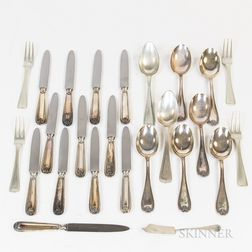 Group of Dutch Silver and .800 Silver Flatware