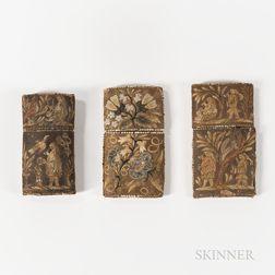 Three Eastern Woodlands Birchbark Cigar Cases