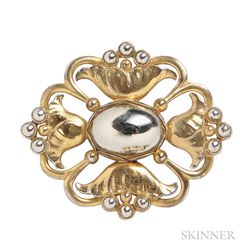 Sterling Silver-gilt Brooch, Georg Jensen