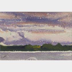 Fairfield Porter (American, 1907-1975)    Bean Island