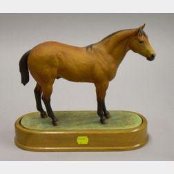 Royal Worcester Bone China Doris Lindner Model of Quarter Horse