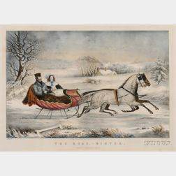 Nathaniel Currier, publisher (American, 1813-1888)      The Road,-Winter.
