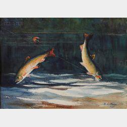 Bancel LaFarge (American, 1875-1938)      Trout (Riviere Ste. Marguerite)