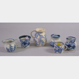 Six Dorchester Pottery Decorated Tableware Items.