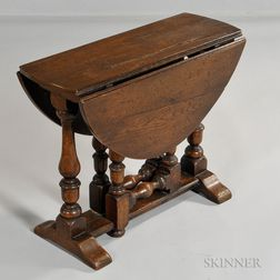 William and Mary-style Drop-leaf Side Table