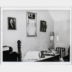 Walker Evans (American, 1903-1975)       Bedroom Interior with Newspapers