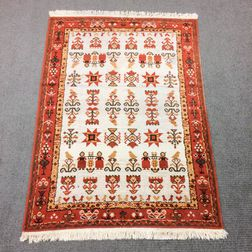 Scandinavian Rug, c. 1970, 6 ft. 8 in. x 4 ft. 6 in.  Estimate $200-250