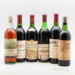 Mixed Vintage California Wines, 6 bottles