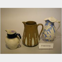 Five English Ceramic Pitchers.