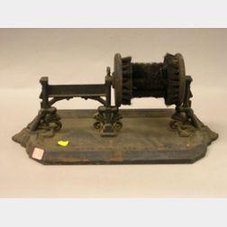 Late Victorian N-E Butt Co. Black Painted Cast Iron Boot Scraper/Brush