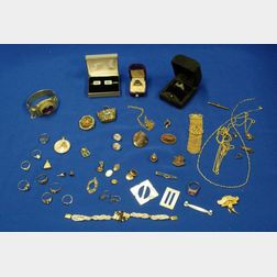Assorted Gold and Victorian Jewelry and Findings