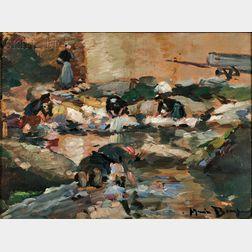 Maurice Bompard (French, 1857-1936)      Les Lavandières