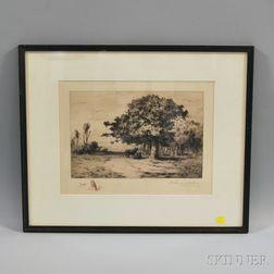Robert Swain Gifford (American, 1840-1905)      A Woodland Pasture