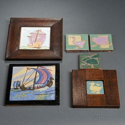 Six Arts & Crafts Tiles