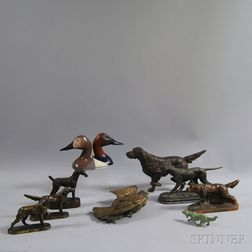 Group of Assorted Cast Metal Decorative Items